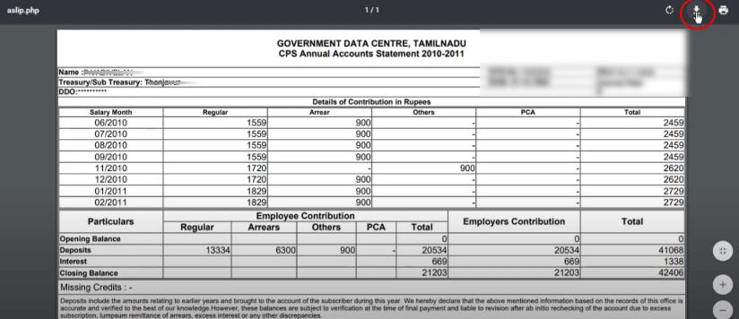 Printing CPS Statement